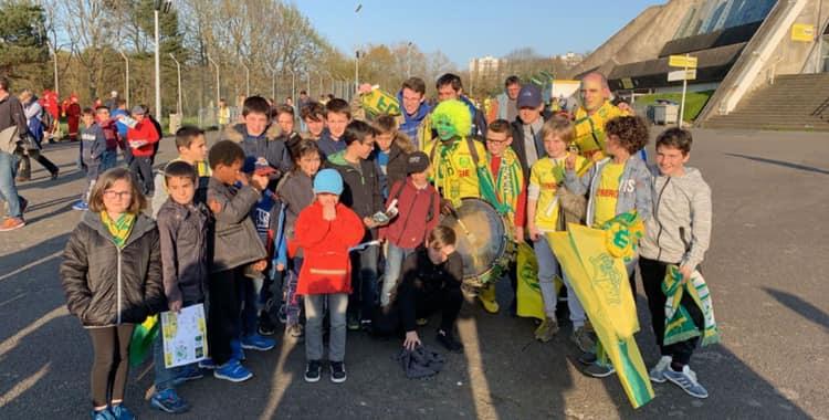 L'ASR Football au stade de la Beaujoire pour le match Nantes-Lille